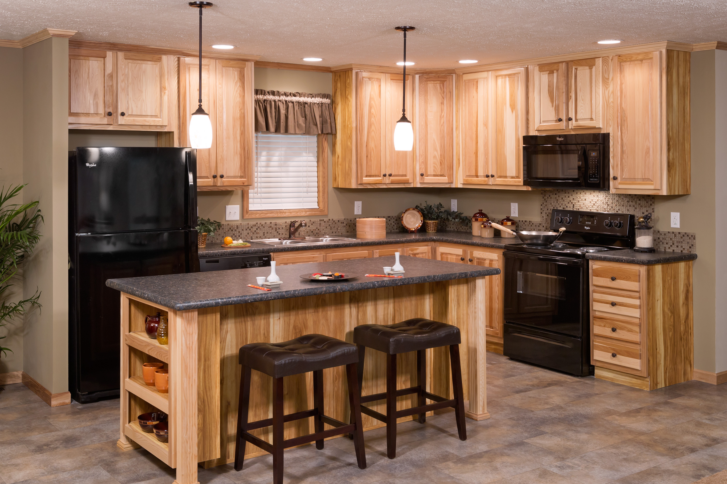 Redman Model Home With Hickory Cabinets Brooks Village